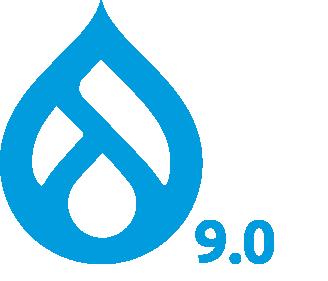 Drupal 9.0 logo