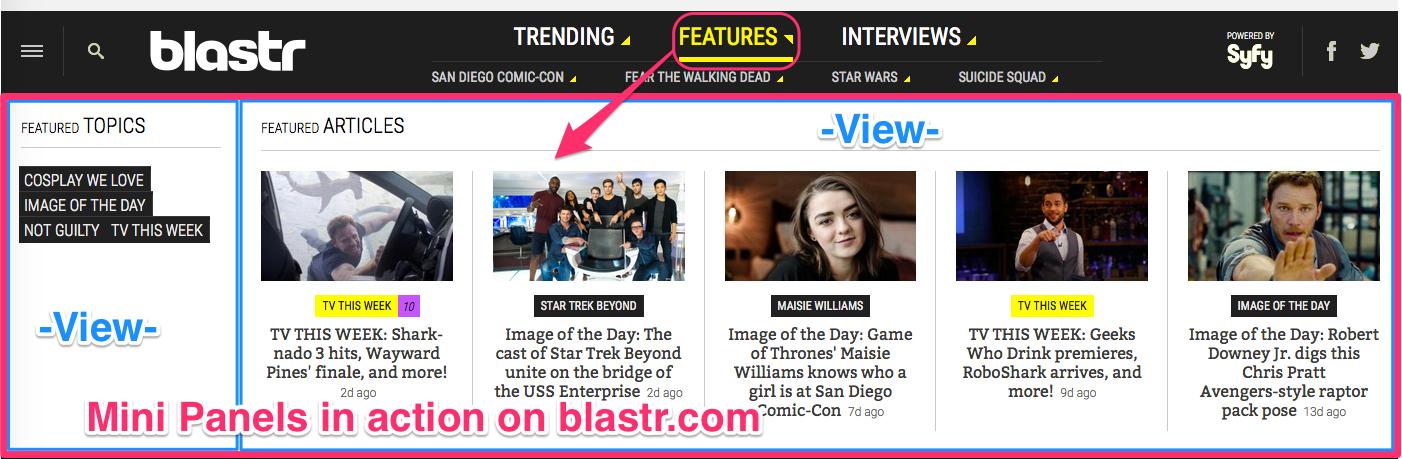 Mini Panels on blastr.com