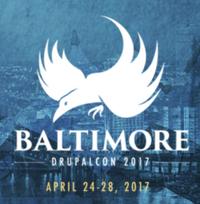 DrupalCon Baltimore logo with dates April 24-28, 2017