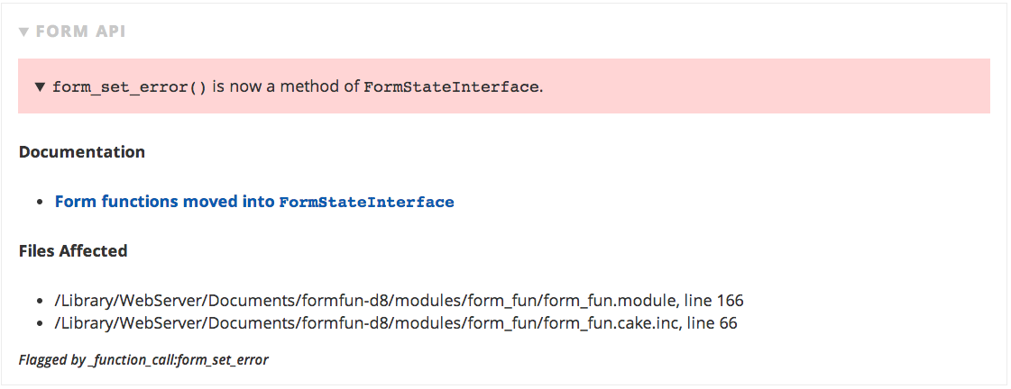 form_set_error() is now a method of FormStateInterface.