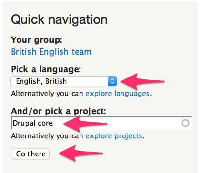 Quick Navigation to go to a project's translatable strings